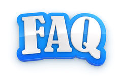 FAQ 3D word on white background with clipping path Stock Photo