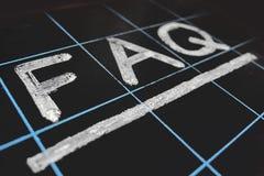 FAQ da abreviatura escrito à mão Fotos de Stock Royalty Free