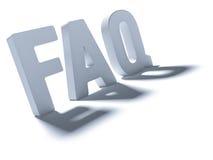 FAQ da palavra Imagens de Stock