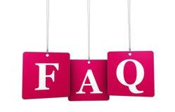 FAQ da Web Imagens de Stock Royalty Free