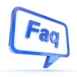 FAQ de bulle de la parole Images libres de droits