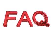 FAQ de las siglas Fotos de archivo libres de regalías