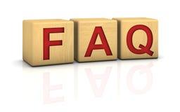 FAQ de los bloques de madera Imagenes de archivo