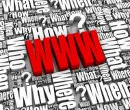 FAQ del Internet Foto de archivo libre de regalías