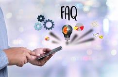 FAQ del servicio de atención al cliente, información con frecuencia Aske de la pregunta del FAQ Fotografía de archivo libre de regalías