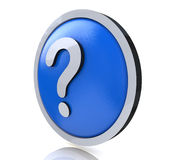 FAQ del signo de interrogación Fotografía de archivo