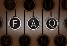 FAQ di vecchio stile Fotografie Stock Libere da Diritti