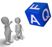 Faq Dice Showing Symbol For Information Or Assisting Royalty Free Stock Photography
