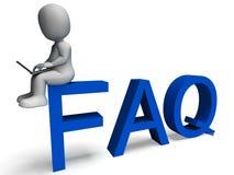 Faq die vaak Gestelde Vragen tonen Stock Fotografie