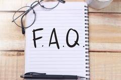 FAQ, Dobrowolnie Pytać pytanie Motywacyjne interneta biznesu słów wyceny obraz royalty free