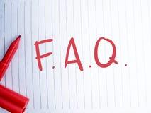 FAQ, Dobrowolnie Pytać pytanie Słowo typografii pojęcie fotografia royalty free