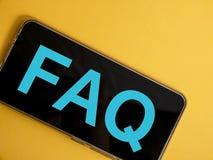 FAQ, Dobrowolnie Pytać pytanie Słowo typografii pojęcie zdjęcie stock