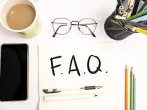 FAQ, Dobrowolnie Pytać pytanie Słowo typografii pojęcie obrazy royalty free