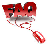 FAQ en línea Imagen de archivo