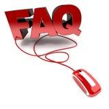 FAQ en ligne Image stock