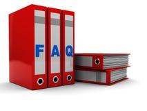 FAQ-Faltblätter Stockfoto