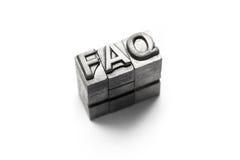 FAQ, FAQs, dobrowolnie, często bywać, pyta, kwestionuje, letterpress zdjęcia stock