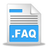 Faq File Shows Frequently Asked Questions And Administration Royalty Free Stock Image