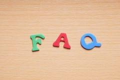 FAQ in foam rubber letters Stock Photos