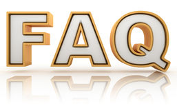 FAQ - frequently asked question abbreviation Royalty Free Stock Images