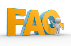 FAQ ( Frequently Asked Questions ). Royalty Free Stock Images