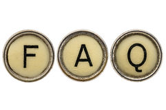 FAQ - frequently asked questions Royalty Free Stock Photo