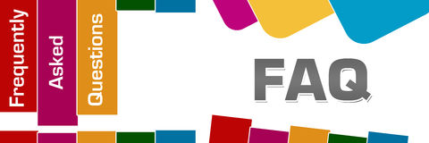 FAQ - Frequently Asked Questions Colorful Stripes Rounded Squares Royalty Free Stock Photos