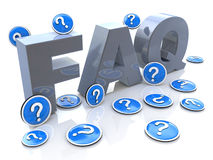 FAQ frequently asked questions stock image