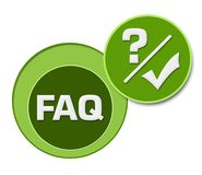 FAQ - Frequently Asked Questions Green Circles vector illustration