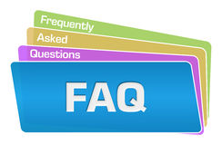 FAQ - Frequently Asked Questions Text Colorful Squares Stack Stock Photos