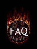 FAQ geheimnisvoll Stockbild