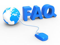 Faq Global Represents World Wide Web And Www Royalty Free Stock Image