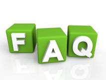 FAQ green cubes Royalty Free Stock Images