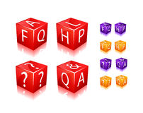 FAQ and help cube icon Stock Photo