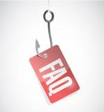 Faq hook tag sign illustration design Royalty Free Stock Images