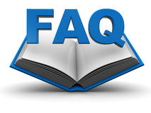 Faq icon. 3d illustration of opened book with 'faq' sign vector illustration