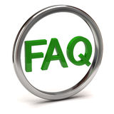Faq icon Royalty Free Stock Photography
