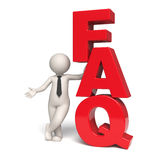 FAQ icon - 3d man Royalty Free Stock Images