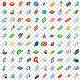 100 faq icons set, isometric 3d style. 100 faq icons set in isometric 3d style for any design vector illustration Vector Illustration