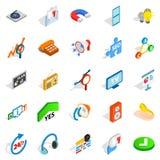FAQ icons set, isometric style Stock Photo