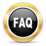 FAQ ikona Zdjęcia Stock