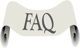 FAQ Illustration Royalty Free Stock Image