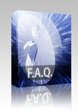FAQ Information box package Royalty Free Stock Image
