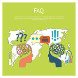 FAQ information sign icon Royalty Free Stock Photo
