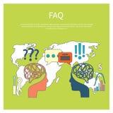 FAQ information sign icon Royalty Free Stock Photo