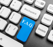 FAQ key Royalty Free Stock Photo