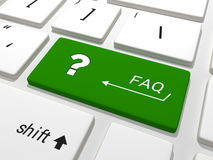 FAQ key on a keyboard Royalty Free Stock Image