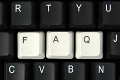 FAQ on keyboard Royalty Free Stock Photos