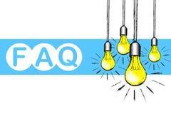 FAQ-Konzeptillustration Lizenzfreies Stockbild