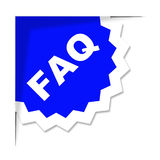 Faq Label Represents Frequently Asked Questions And Advice Stock Photo